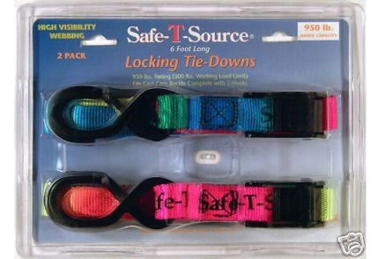 Locking Tie Down Safety Straps 2-Pack